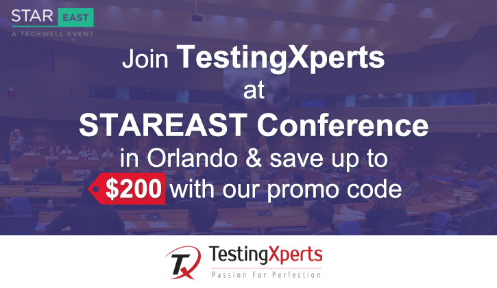 TestingXperts at STAREAST