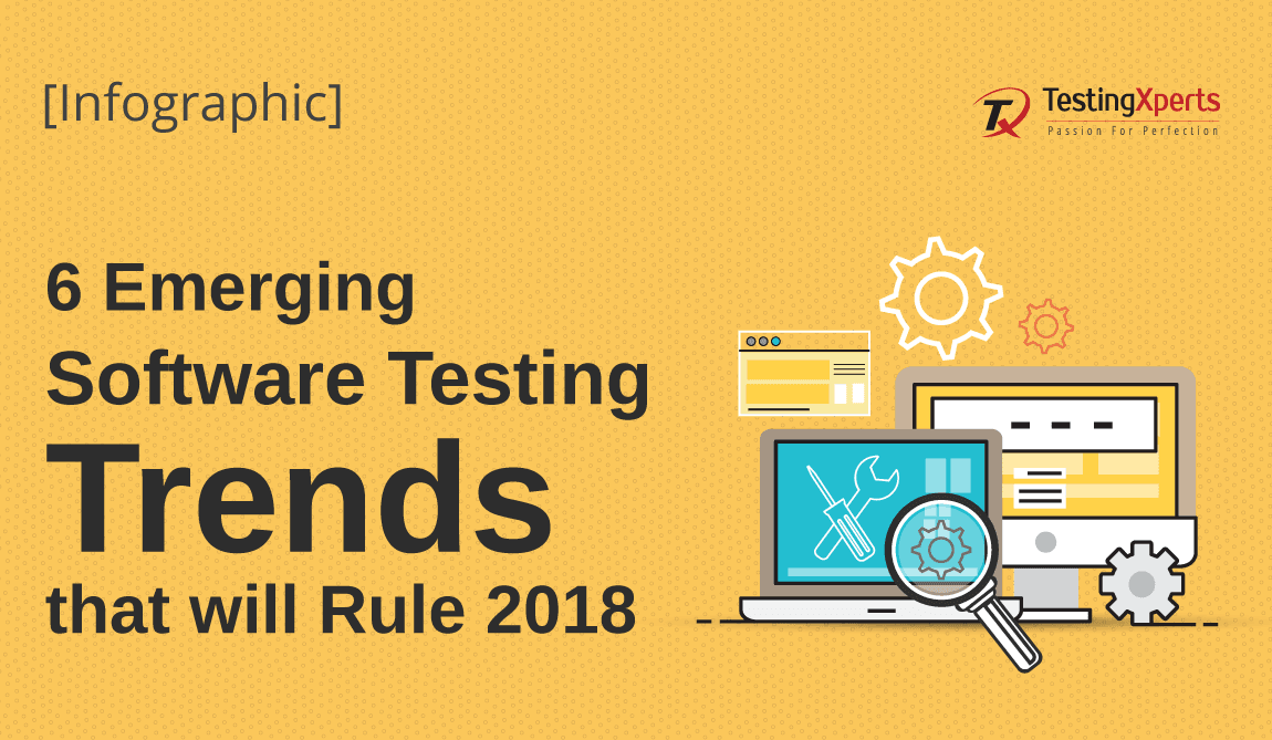 6 Emerging Software Testing Trends that will Rule 2018- Infographic