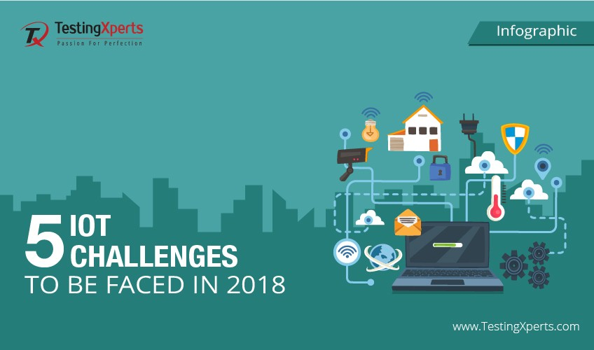 5 IoT challenges to be faced in 2018- Infographic