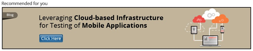 Cloud Based mobile testing Infrastructure