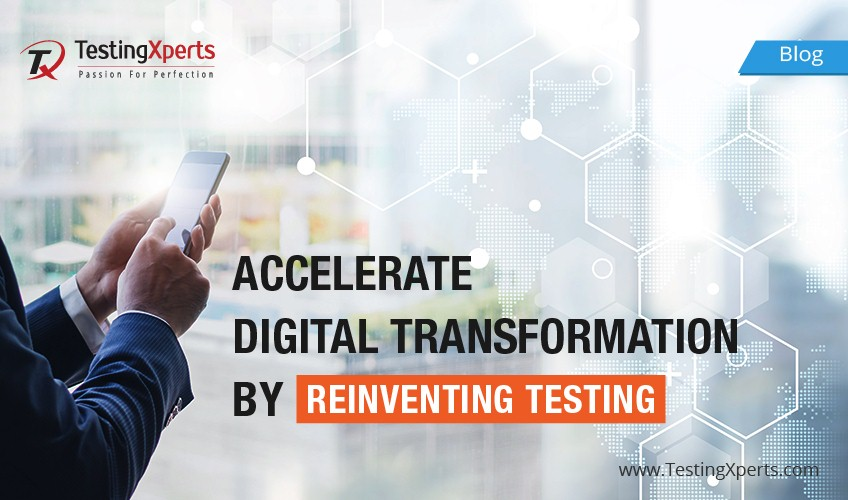 Continuous testing services for accelerating digital transformation