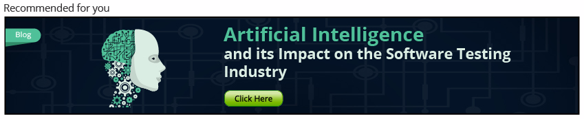 Artificial Intelligence & Software Testing Industry