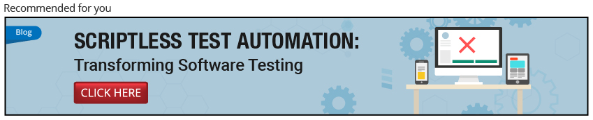 Scriptless test automation Services