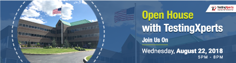Open House with TestingXperts – PA, USA (August 22, 2018)