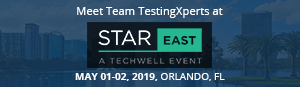 TestingXperts at StarEAST conference 2019