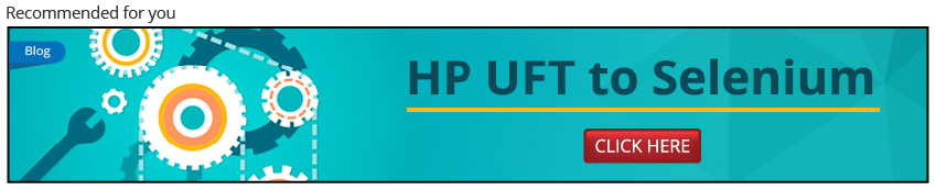 Migration from HP UFT to Selenium Automation testing