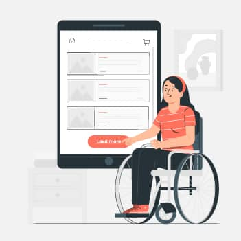 Equal access of app to differently-abled people necessitates accessi
